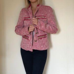 Zara textured short blazer